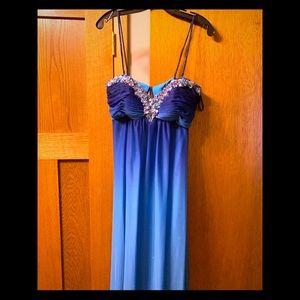 Blue Ombré Gown